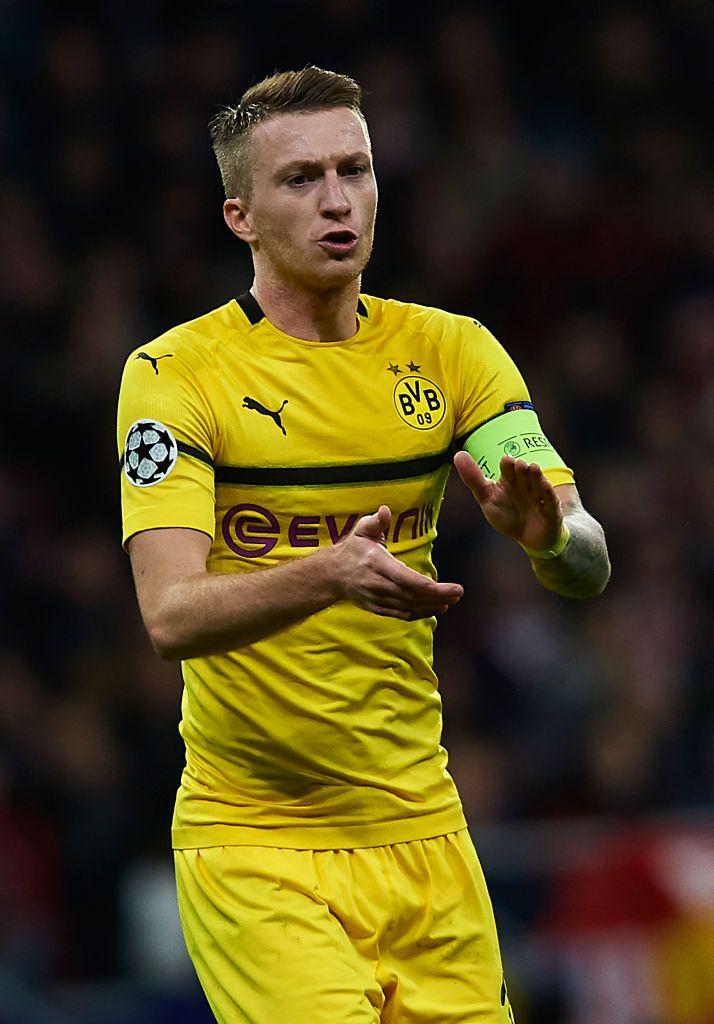 Marco Reus Of Borussia Dortmund Reacts During The Group A Match Of Borussia Dortmund Dortmund Reus