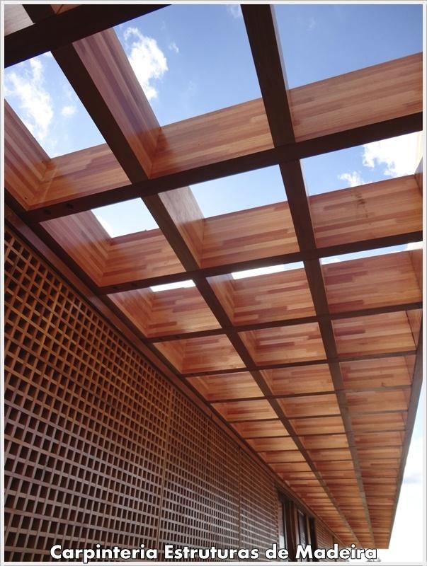 Pergolado de MLC  #glulam #timber #wood #structure #madeira