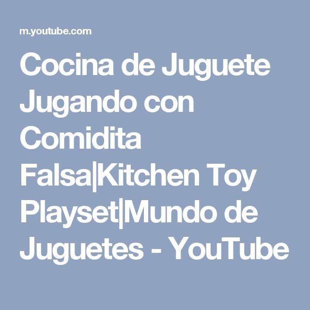 Cocina de Juguete Jugando con Comidita Falsa|Kitchen Toy Playset|Mundo de Juguetes - YouTube