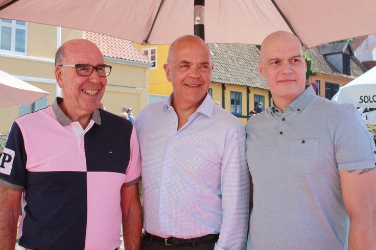 Tre seje mænd efter spændende oplæg om livet som kræftpatient <3