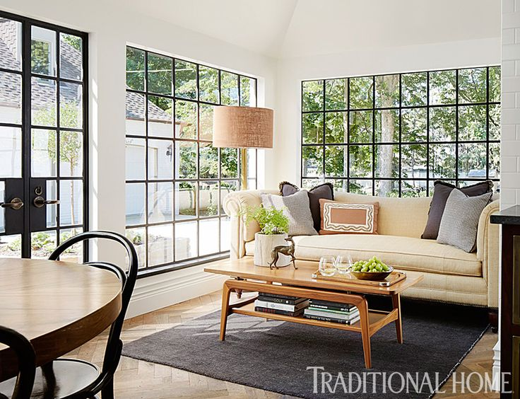 And the addition will need a eating/sitting area overlooking the yard, with windows that compliment the original leaded glass!  Tudor-Style Home with a Modern Makeover   Traditional Home