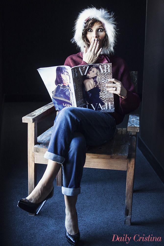 Cristina Ferreira - Bordeaux Christian Louboutin Denny Rose Bazaar Magazine