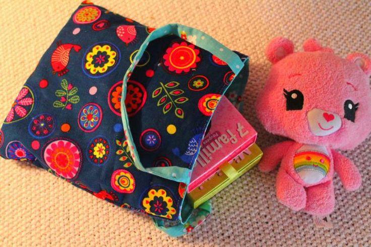 Mini Tote bag réversible : TUTO » croquelavieenrose.fr - La petite vie en rose d'Anouk, Maïa et Azia.