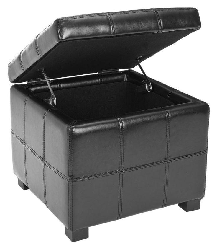safavieh furniture william bicast leather tufted storage ottoman