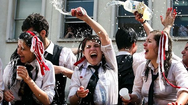After exam season is over in May, local students burn their ribbons in a ceremony called 'Queima das Fitas'.