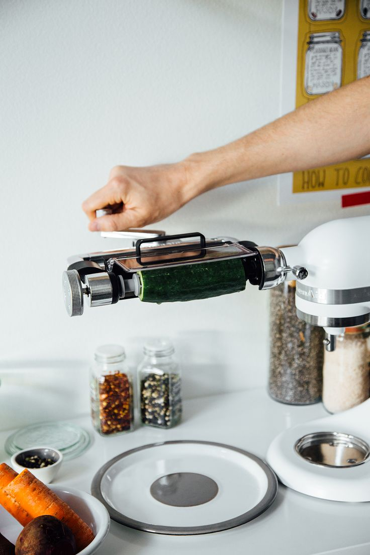For her Pickled Veggie Sandwiches, Oh, Ladycakes opts for the thin blade on the KitchenAid® Vegetable Sheet Cutter Attachment. Find her recipe on our blog: http://kitchen.ai/QlDeUP