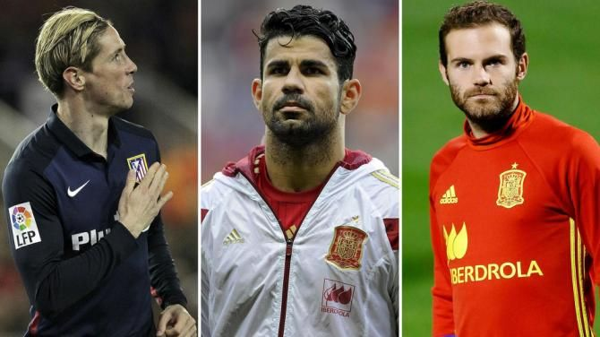 Costa, Mata And Torres Excluded From La Roja's Provisional Team