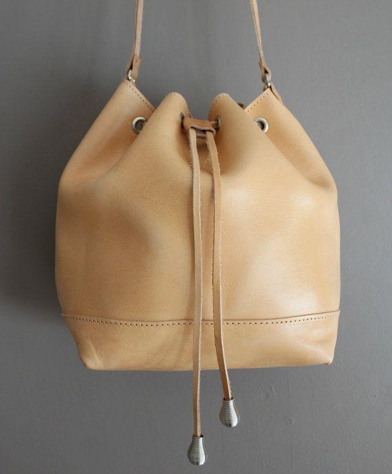 Women bag  leather bucket bag leather womens bag by EATHINI