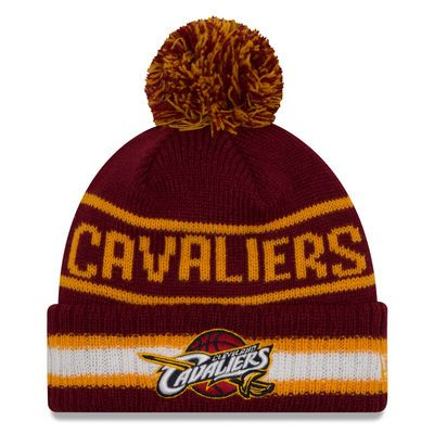 Cleveland Cavaliers New Era Current Logo Vintage Select Cuffed Knit Hat - Wine
