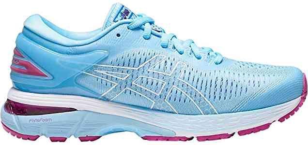 Size 8 5 Amazon Com Asics Women S Gel Kayano 25 Running Shoes Skylight Illusion Blue Road Running Running Shoes Asics Women Running Women