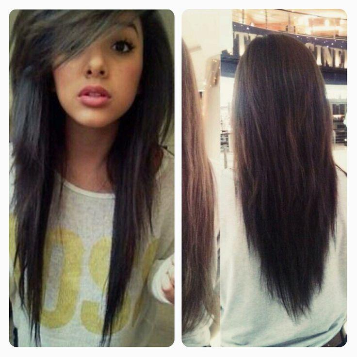 Enjoyable 1000 Ideas About V Shaped Layers On Pinterest Layered Hair Short Hairstyles For Black Women Fulllsitofus