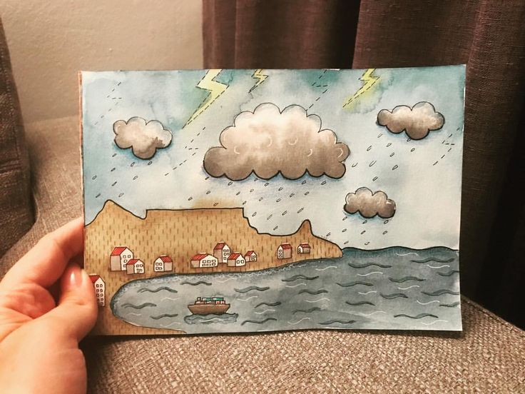 """12 Likes, 2 Comments - Maybloom Studio (@maybloomstudio) on Instagram: """"44/365 Inspired by the amazing storm this evening! #capetownrain #drought #365daysofart…"""""""
