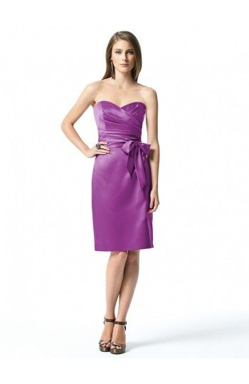 Sweetheart Sheath/Column Satin Bridesmaid Dress with Sashes