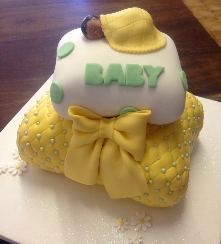 Baby on pillow cake