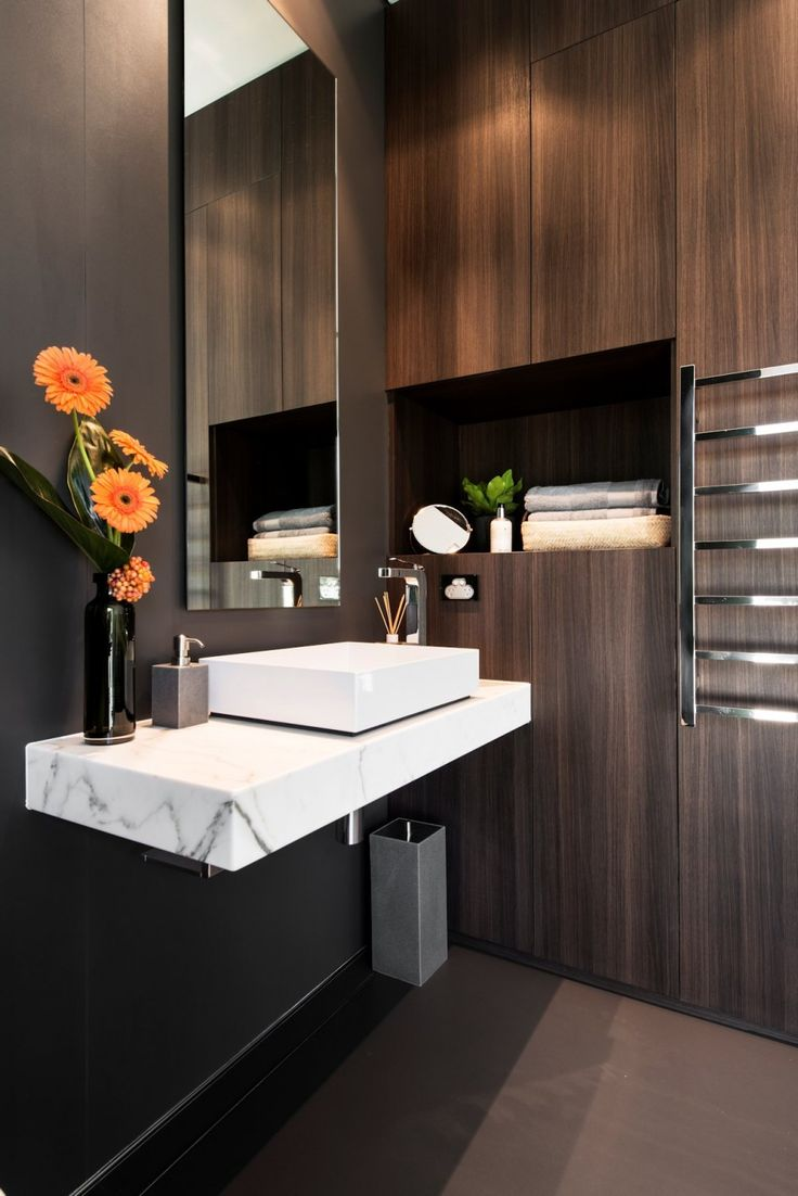 Bathroom - Purely natural with the finest of finishes and materials  (re-pinned photo - by Urbane Projects)