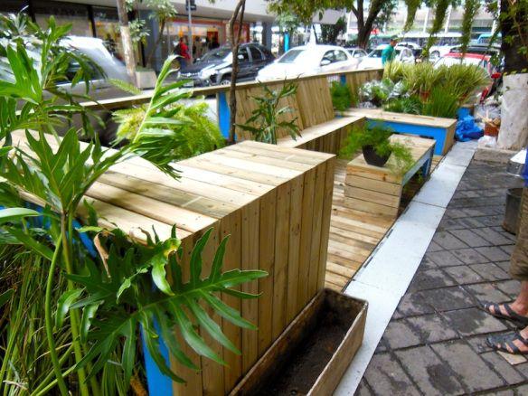 Parklets desenvolvidos pelo Instituto Mobilidade Verde e Design OK