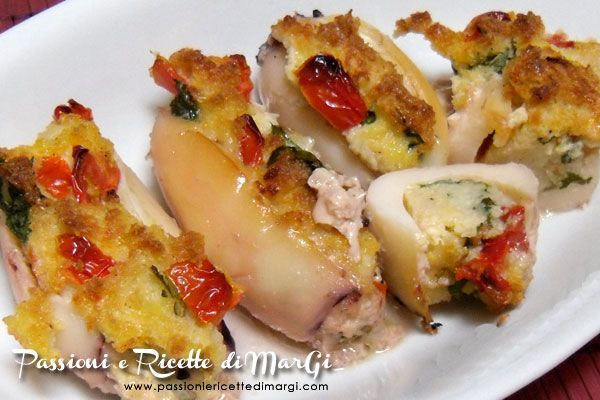Seppioline ripiene al forno - ricette seppioline ripiene di MarGi