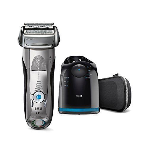 Braun Series 7 7898cc elektrischer Rasierer / Rasierapparat (Reinigungsstation (Clean und Charge) und Reise-Etui, Elektrorasierer einsetzbar als Trockenrasierer und Nassrasierer (Wet und Dry)) silber