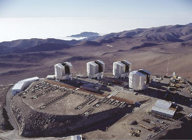 The Paranal Observatory is located on the top of Cerro Paranal in the Atacama Desert in the northern part of Chile