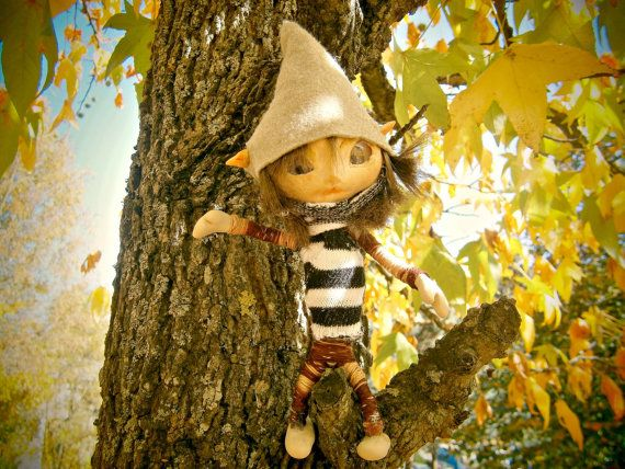 Ooak posable 6 inches male fairy fairie miniature por MundoMagico
