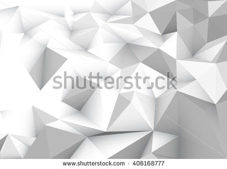 White abstract geometric, low poly style vector illustration graphic background