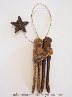 DIY Clothespin Nativity Ornament