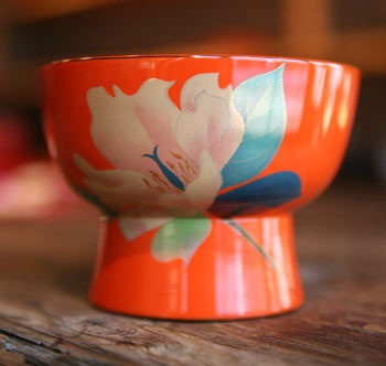 japanese lacquered bowl