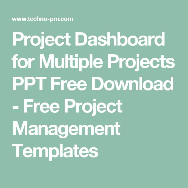 Project Dashboard for Multiple Projects PPT Free Download - Free Project Management Templates