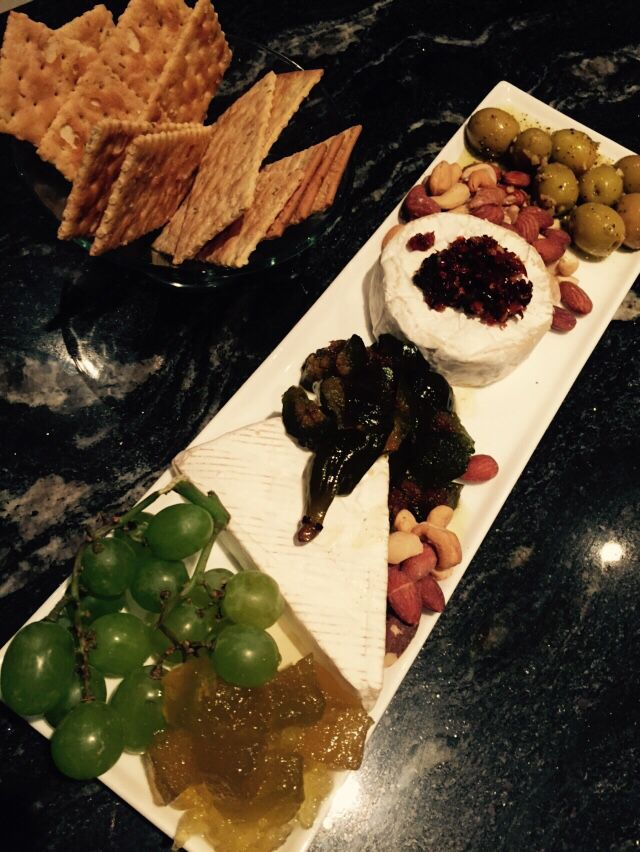 Cheeseboard with just a little creativity. Fit for a lovely evening with friends.