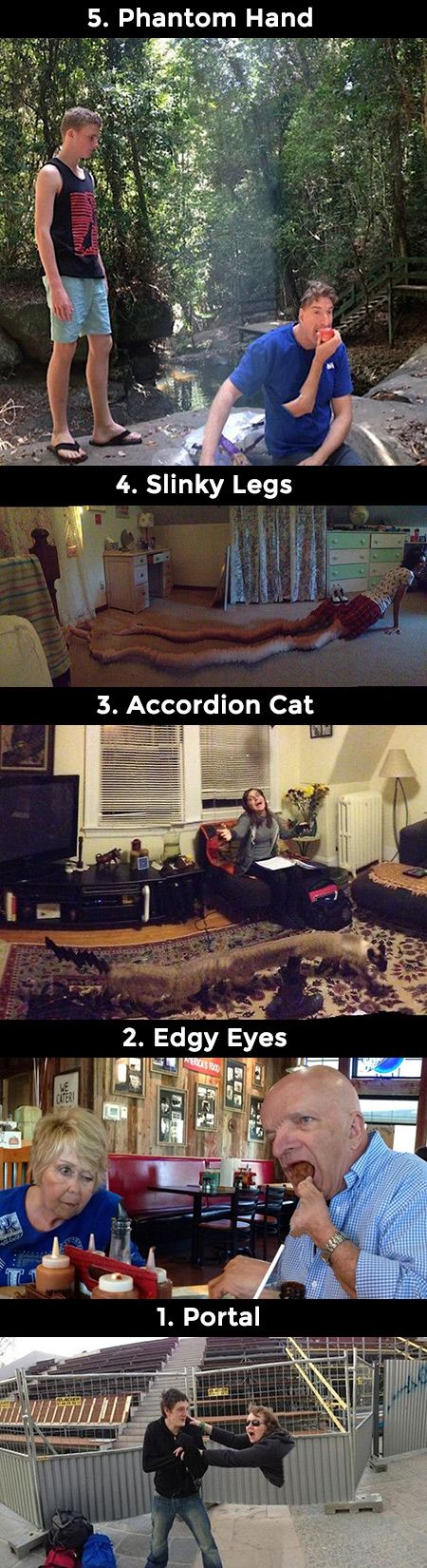 If you do not move your camera fast enough when taking panoramas, these disasters will ensue.