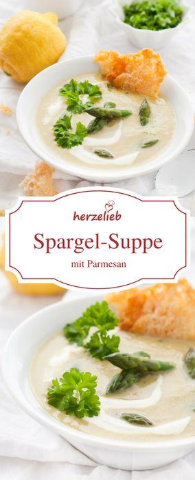 Spargel Rezepte - leckere Spargelsuppe mit Parmesan. Rezept von herzelieb