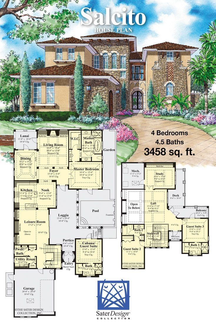 Tuscan Style Two Story Home Plan House Plans Mansion Building Plans House Mansion Floor Plan