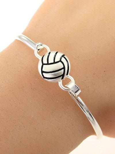 Volleyball Hook Bangle Bracelet