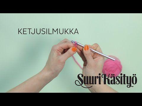 Ketjusilmukka | Virkkauksen perussilmukat - YouTube
