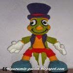 Pepito grillo amigurumi, Jiminy cricket amigurumi