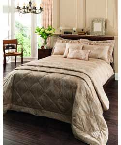 Catherine Lansfield Natural Decadent Duvet Set - Double.