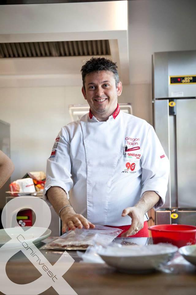 2015. májusában Séfműhelyünkben az Angelo Po egyik olasz séfje Gregori Nalon  élményfőzésén vehettünk részt. /  Gregori Nalon, one of the Italian chefes of Angelopo, held a fantastic cooking demo at our Chef Workshop in May 2015.  #kitchen #gastro #chef #cooking