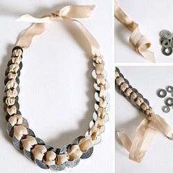 DIY Bracelet  #craft #bracelet: Ribbons Jewelry, Crafts Bracelets, Diy Necklaces, Crafts Jewelry, Ribbons Bracelets, Diy Bracelets, Washer Necklaces, Bracelets Crafts, Washer Bracelets