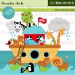 Arca de Noé: Ark Bible, Ark Clip, Ark Party, Noah Ark, Clipart, Baby Shower