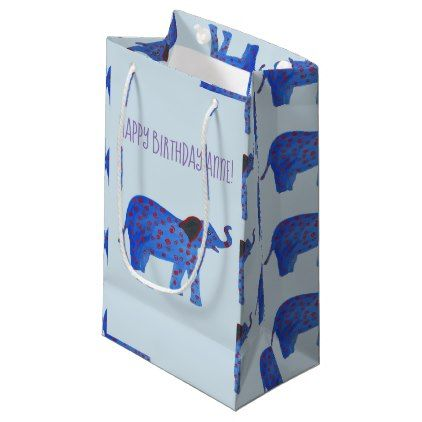 Elephant Drawing Drawing Custom Gift Bag - baby gifts child new born gift idea diy cyo special unique design