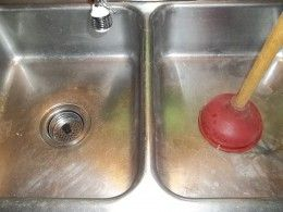 how to unclog a double kitchen sink drain plugs other
