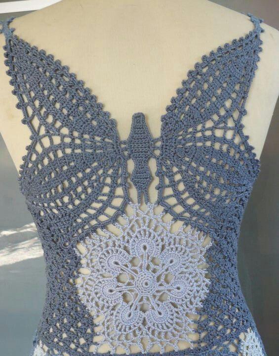 Cute Crochet Butterfly Top
