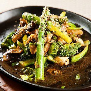 Chicken, Broccoli, and Asparagus Stir-Fry