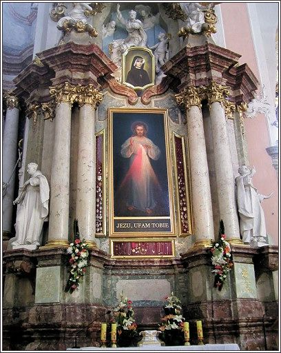 Original Divine Mercy image - now hangs in Vilnius, Lithuania