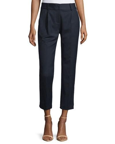 Milly+Edie+Tapered+Gabardine+Ankle+Pants+Navy+|+Clothing