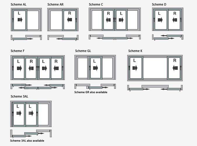 Sliding Glass Door Plan aluk bsc94 sliding door 3 panel wall insert bim. double door stop