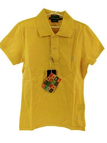 Ralph Lauren Women's Skinny Fit Polo Shirt - Slicker Yellow - Medium by Polo Ralph Lauren. $49.99. Slim-fitting short-sleeved polo shirt in our breathable and durable cotton mesh. Two-button applied placket, ribbed polo collar and armbands, uneven vented hem.. Save 37% Off!