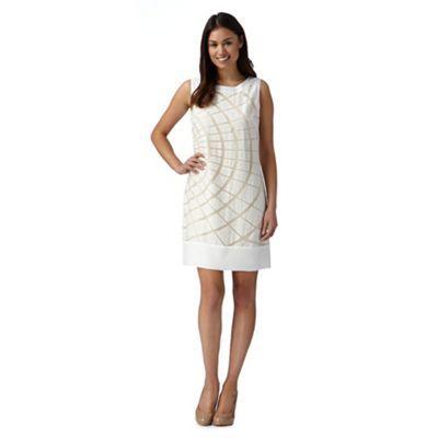 Principles Petite by Ben de Lisi Designer off white burnout dress- at Debenhams.ie