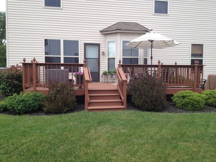 Images Of Landscaping Around Deck : Around deck on front yard decor landscape and