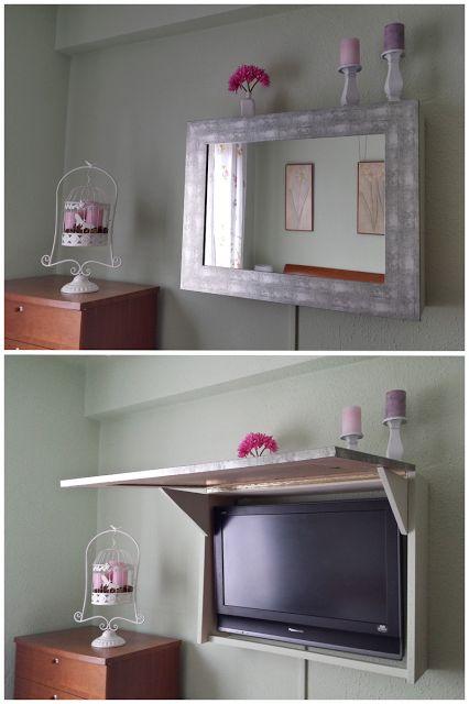 Las 25 mejores ideas sobre muebles con espejo en pinterest - Tv en la pared ...